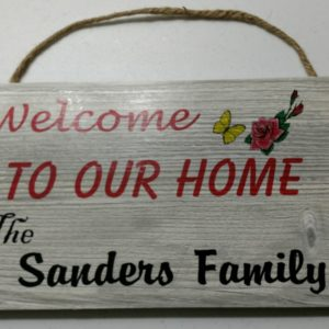 Family welcome sign